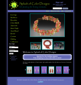 Splash of Color Designs Home Page