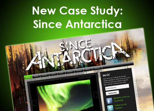 Since Antarctica – Redesign for Album Launch