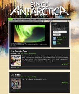 Since Antarctica New Site Homepage