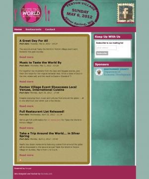 Taste the World in Fenton Village Home Page
